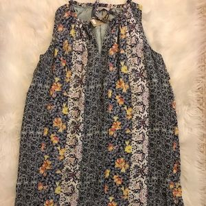 LOFT petite small floral dress